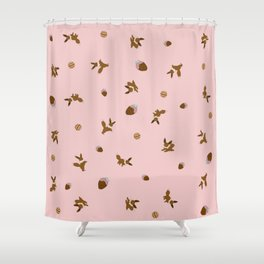 Eevee Chocolate Pink Strawberry Print Shower Curtain
