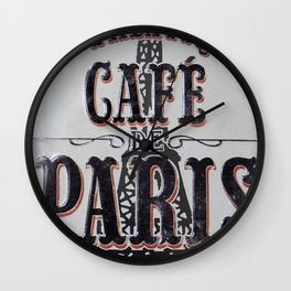 Coffee of Paris | Café de Paris Wall Clock