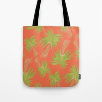 palm trees Tote Bags featuring Palm Trees by Allyson Johnson