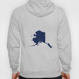Flag Map of Alaska Hoody