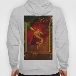 Wonderful chinese dragon, gold colors Hoody