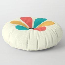 Mid Century Flower Floor Pillow