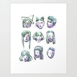 girl collection Art Print