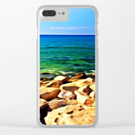 Ocean's Delight Clear iPhone Case