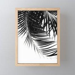 Palm Leaves Black & White Vibes #1 #tropical #decor #art #society6 Framed Mini Art Print