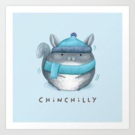 Chinchilly Art Print
