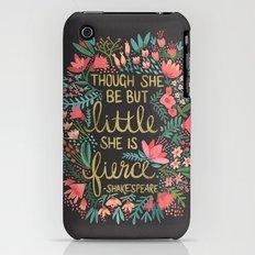 Little & Fierce on Charcoal Slim Case iPhone (3g, 3gs)