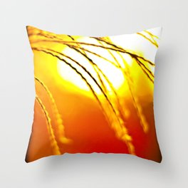 Fall Grass Throw Pillow