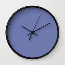 Vintage New England Shaker Village Dark Federal Blue Milk Paint Wall Clock