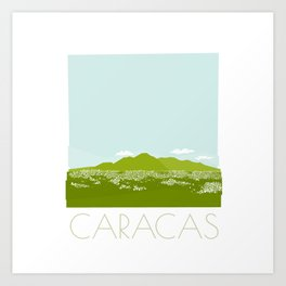 Caracas City by Friztin Art Print