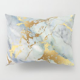 Lovely Marble with Gold Overlay Pillow Sham