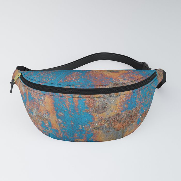 Rust on blue background Fanny Pack