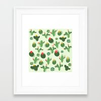 succulent Framed Art Prints featuring Succulent by Kakel
