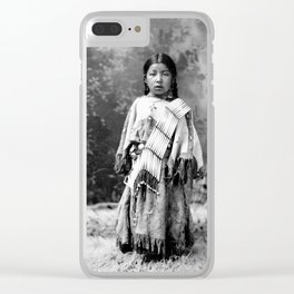 Dakota Sioux Little Girl Clear iPhone Case