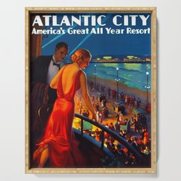 Atlantic City New Jersey Travel Serving Tray