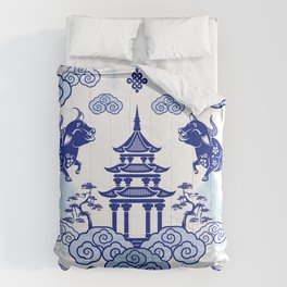 Year of the Ox Pagoda  Comforters
