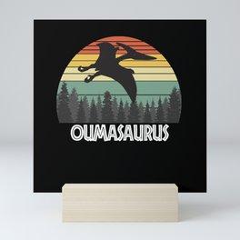 OUMASAURUS OUMA SAURUS OUMA DINOSAUR Mini Art Print