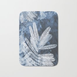Indigo Leaves Bath Mat