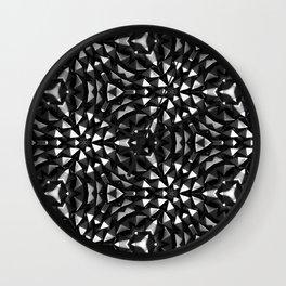 Steel Flowers Wall Clock
