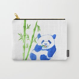 Panda eating bamboo Watercolor Print Carry-All Pouch