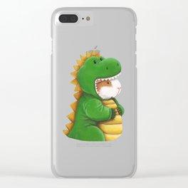 Guinea Pig in a Dinosaur Costume - Peegosaurus Rex Clear iPhone Case