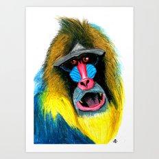 HAAAAA ! Mandrill Art Print
