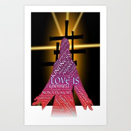 Jesus Love Crosses Art Print