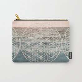 Mandala Flower of Life Sea Carry-All Pouch