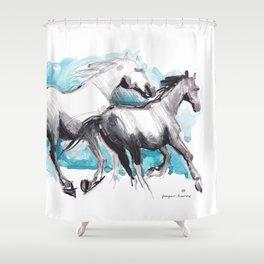Horses (Mom&kid) Shower Curtain