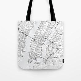 New York Map Tote Bag