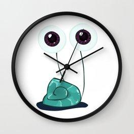 Happy Garden Snail Wall Clock