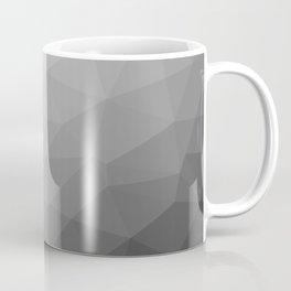 Grey Gradient Geometric Mesh Pattern Coffee Mug