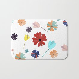 Flowers everywhere Bath Mat