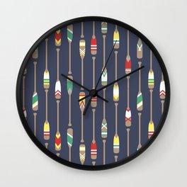 Bail & Sail - Navy Oars Wall Clock