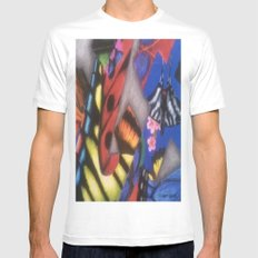 ButterFlys White Mens Fitted Tee MEDIUM