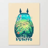 anime Canvas Prints featuring He Is My Neighbor by Victor Vercesi