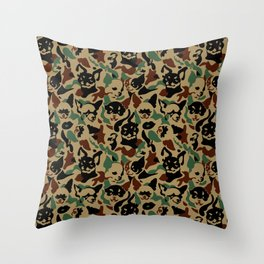 Chihuahua Camouflage Throw Pillow