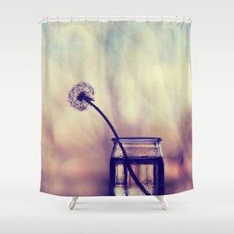 dandelion morning Shower Curtain