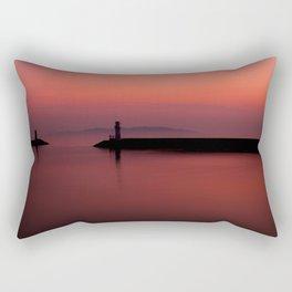 Slow City Sunset Rectangular Pillow