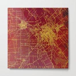 San Jose old map year 1899, united states vintage maps Metal Print