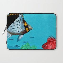 Butterfly & Bigeye fishes Laptop Sleeve