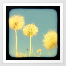 Summer Dandelions #2 Art Print