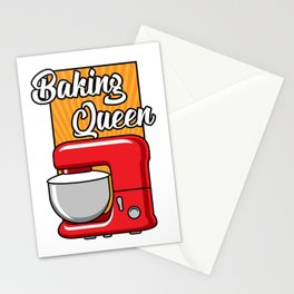 Cute Baking Queen Gift Print Baker Pastry Chef Print Stationery Cards