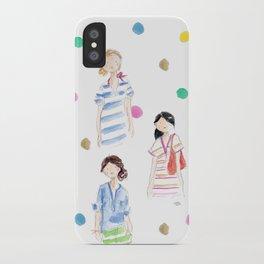 J Crew Summer Girls iPhone Case