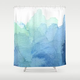 Abstract Watercolor Texture Blue Green Sea Sky Colors Shower Curtain