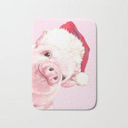 Sneaky Santa Baby Pig Bath Mat