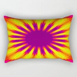 Sunrise Color Burst Flower Rectangular Pillow