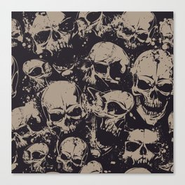 Skulls Seamless Canvas Print