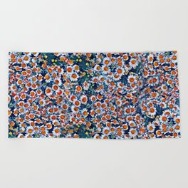 chrydsanthemum Beach Towel