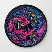 acid Wall Clocks featuring ACID TRIP by Robin Clarijs